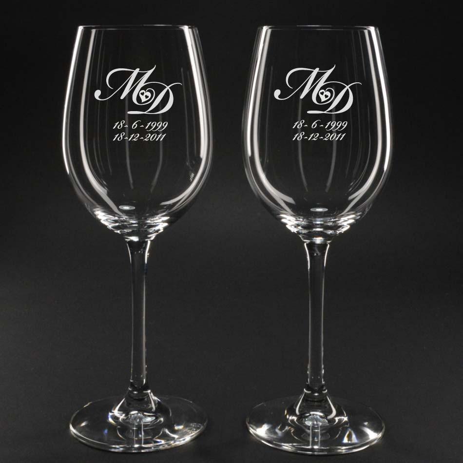 Wijnglazen Graveren Wijnglas Graveren Door De Glasgraveur