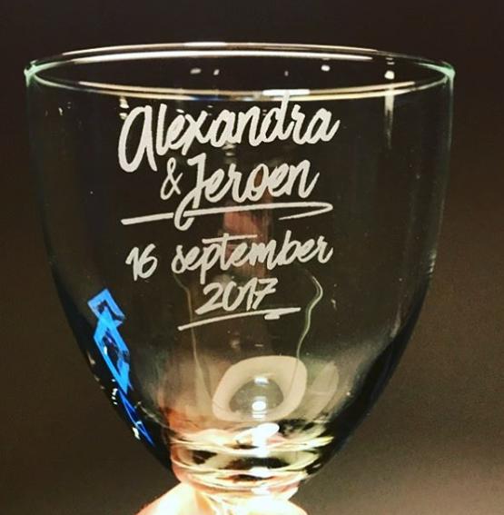 Beste Glazen voor het bruidspaar... - De Glasgraveur - Blog PX-75